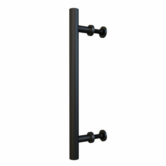 15 3//4 Back to Back Flat Black Bar Pull Handle Double Side Ladder Style for Barn Door Hardware